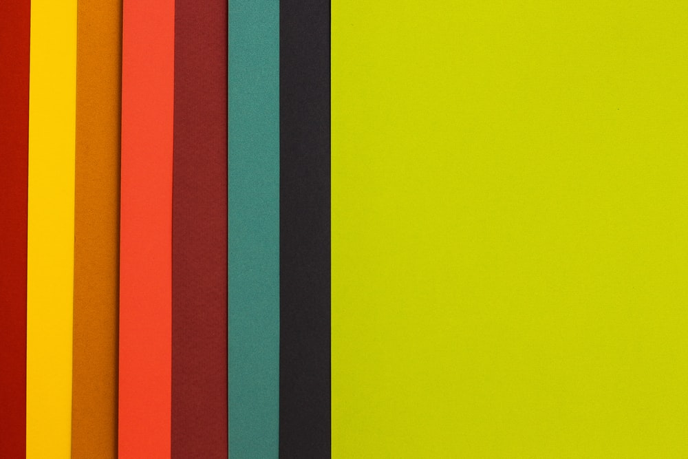 yellow, black, green, and orange digital wallpaper