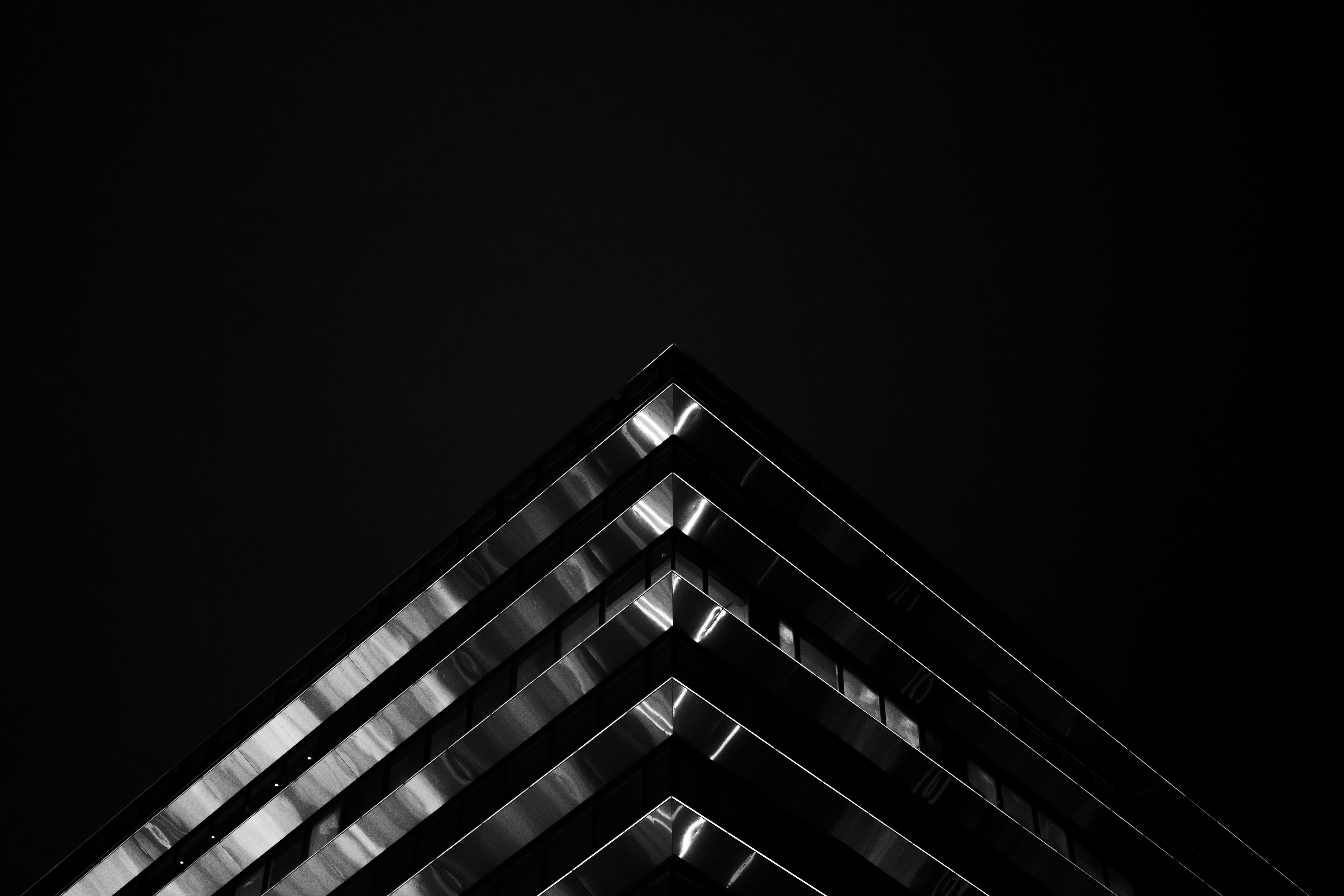 low angle of building