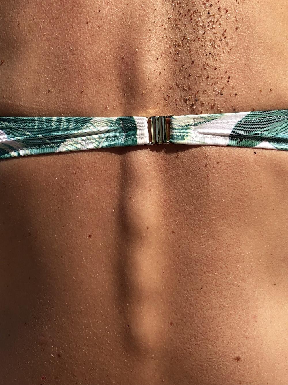 green and white bikini top