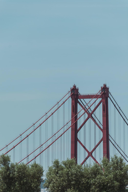 red metal bridge