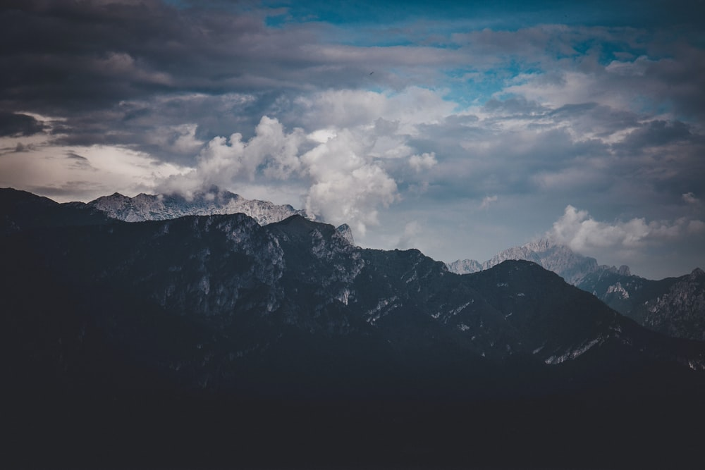 landscape photography of mountains and clouds