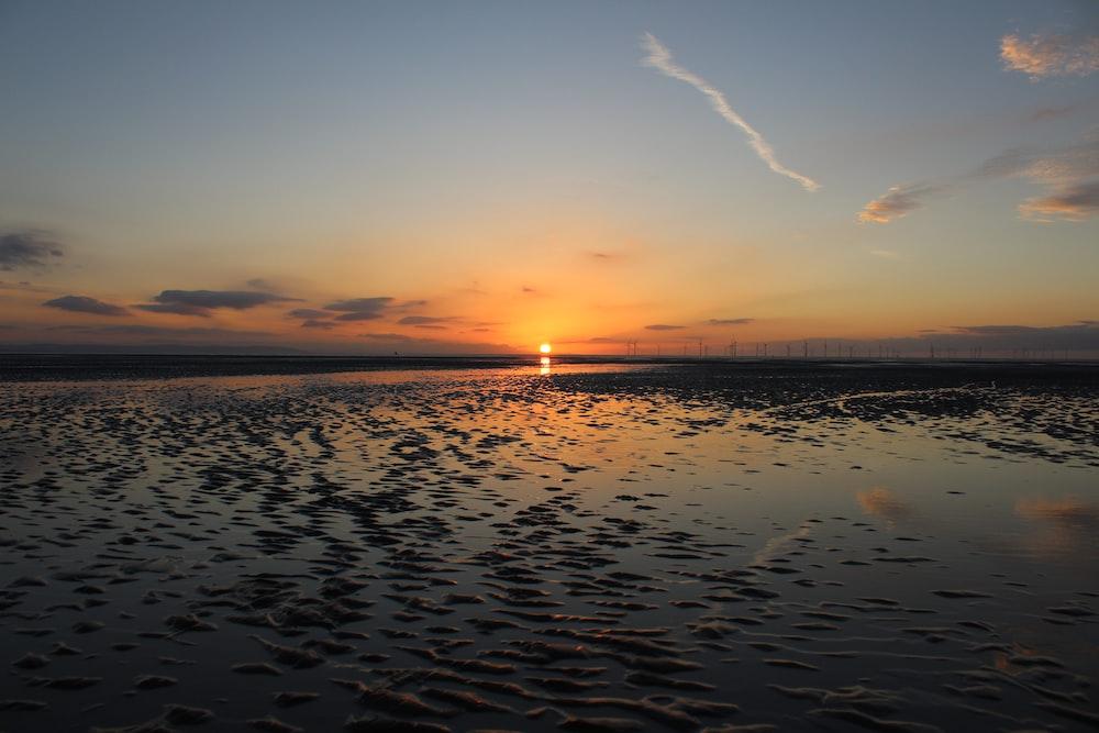 beach view of sunset