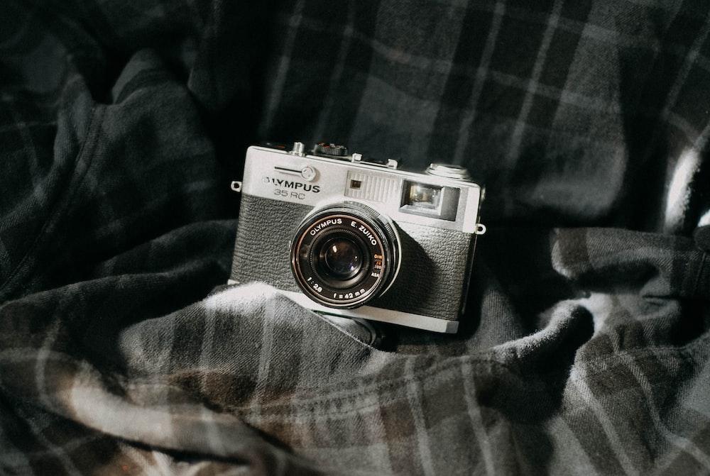 black and white SLR camera
