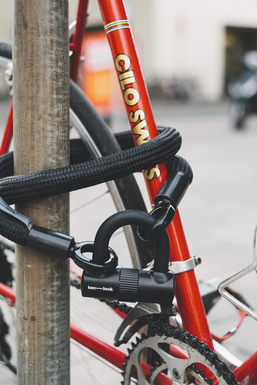 black combination cable lock