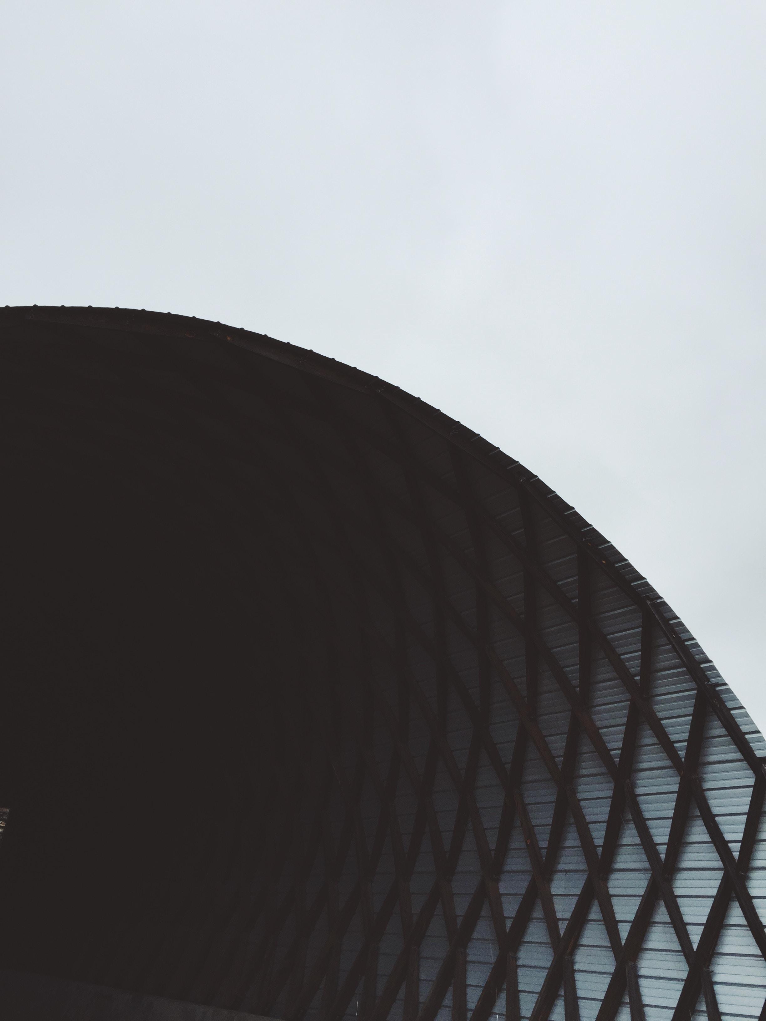 white and black metal frame