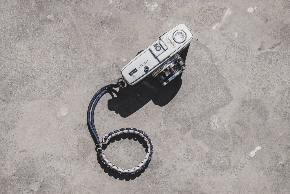 gray point-and-shoot camera