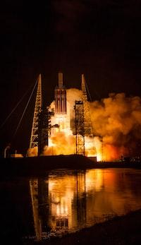 taking off rocket ship