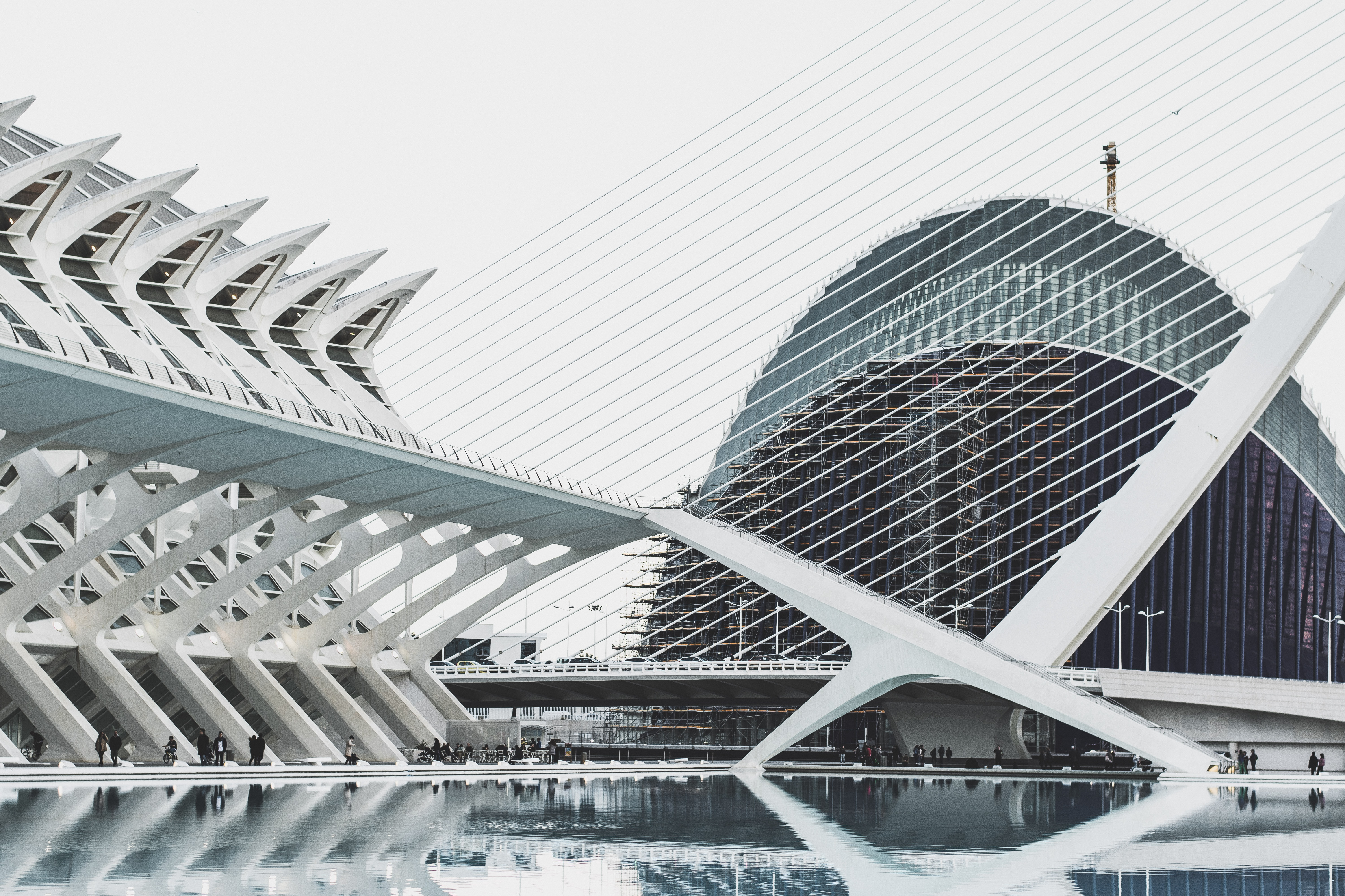 white architectural photography