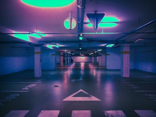 An Empty car parking Lot