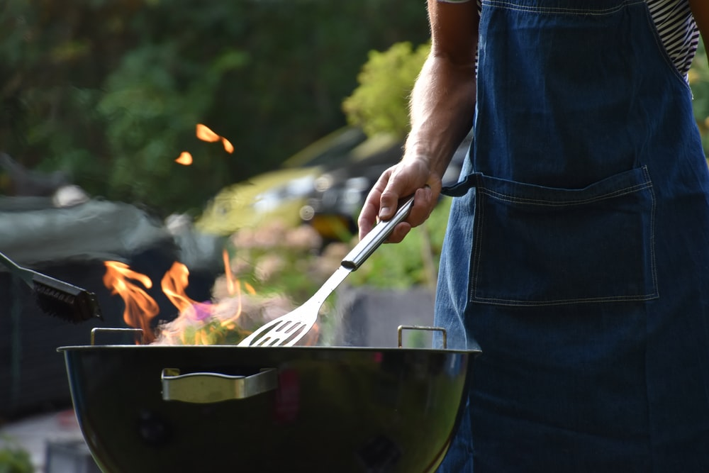 man grilling outdoor