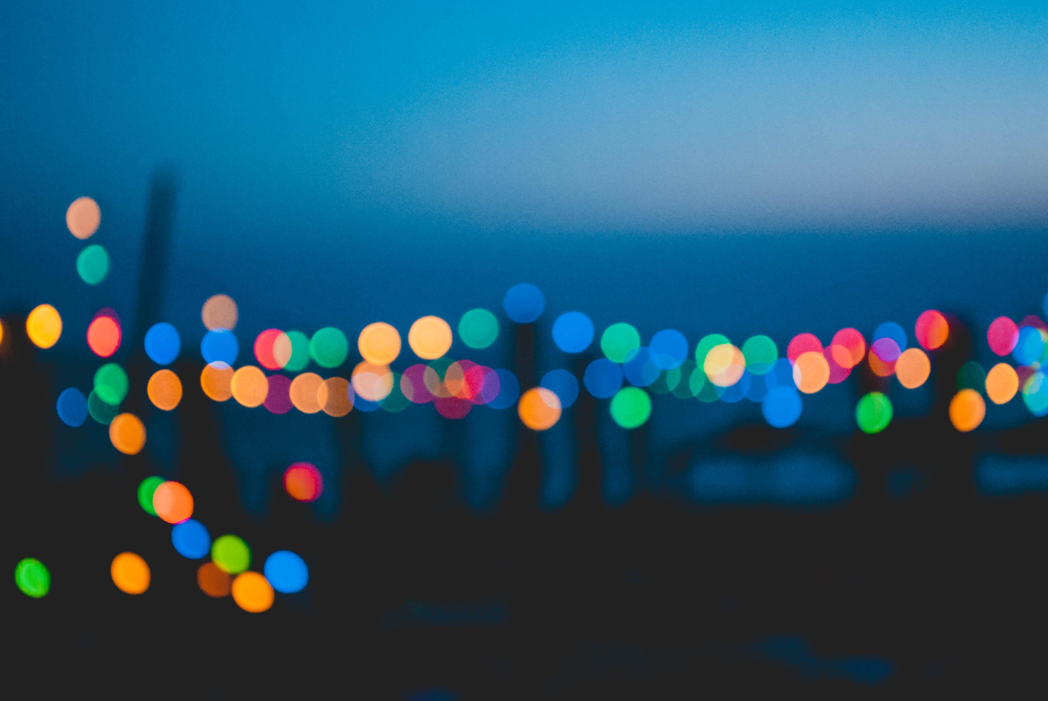 photography of bokeh lights