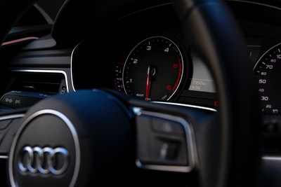 black audi vehicle steering wheel audi zoom background