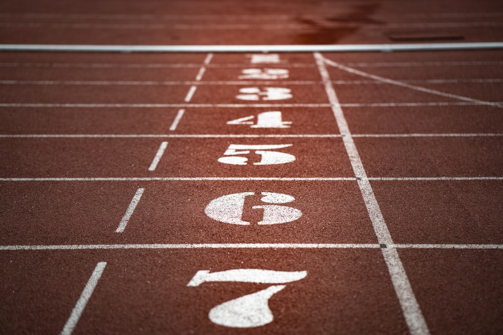 brown track and field
