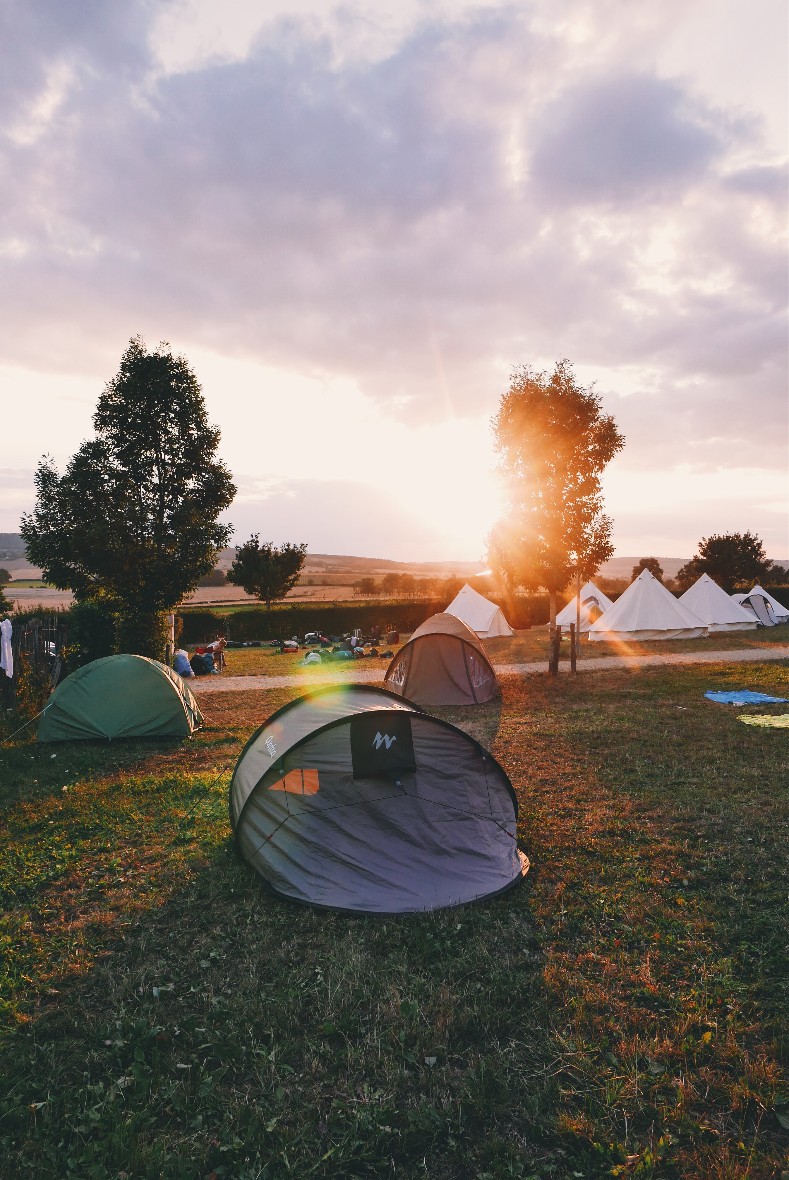 tents on flat ground