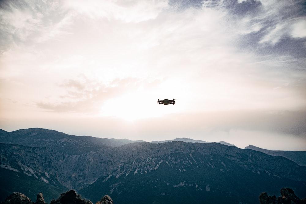 quadcopter on sky