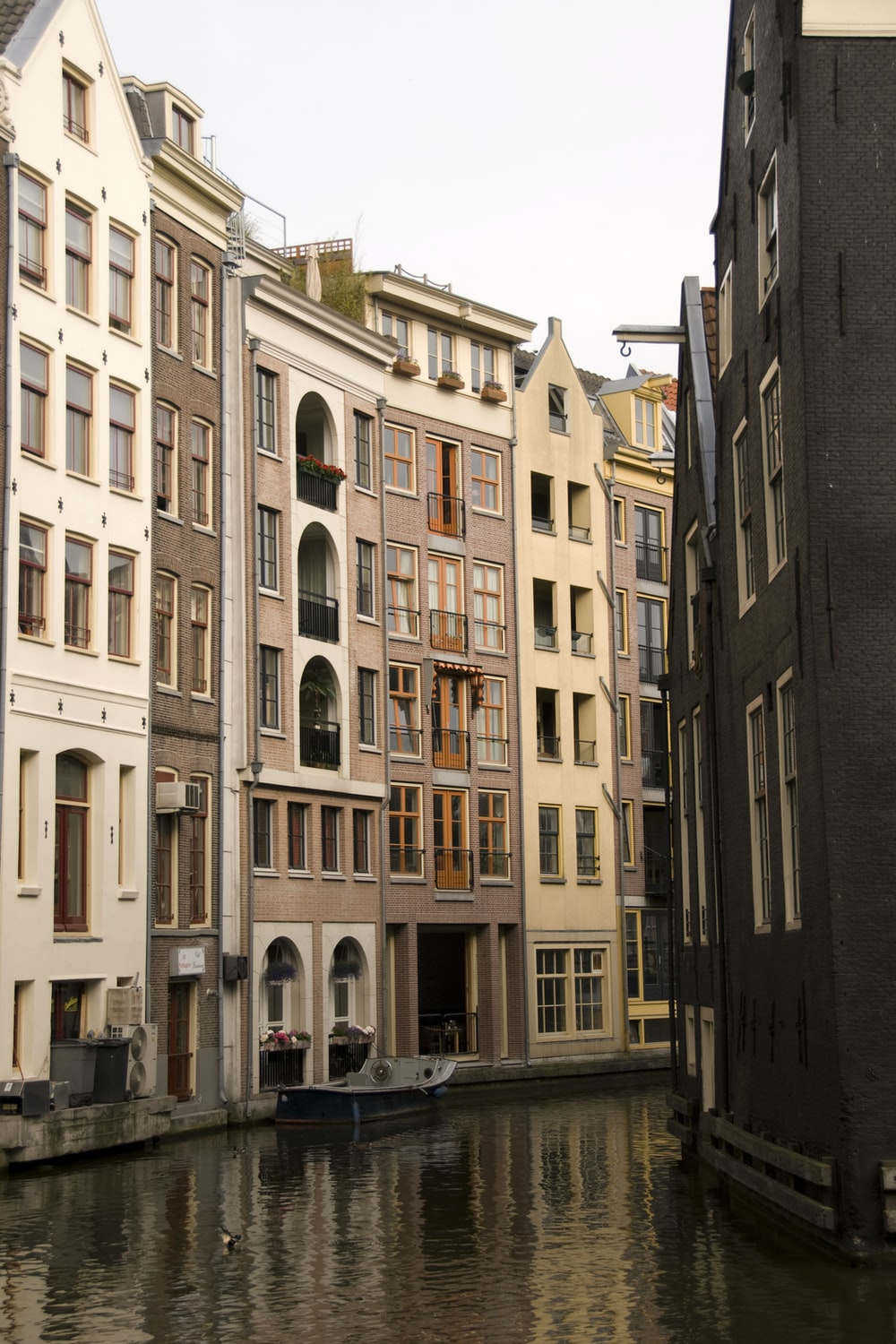 canal surrounded by buildings