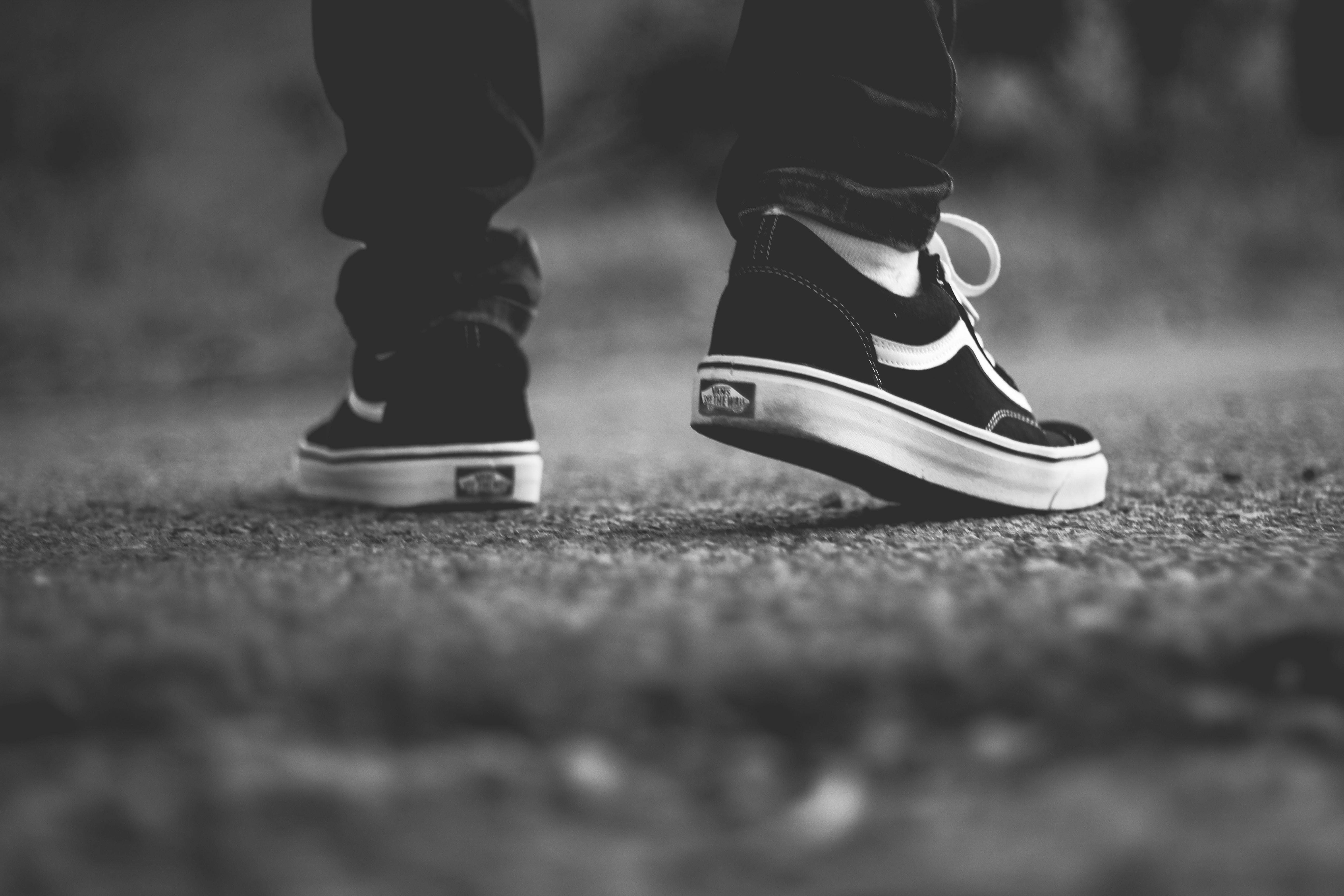 pair of Vans shoes