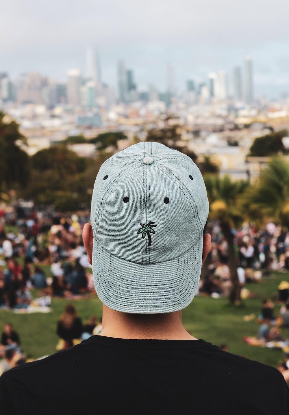 man in gray cap