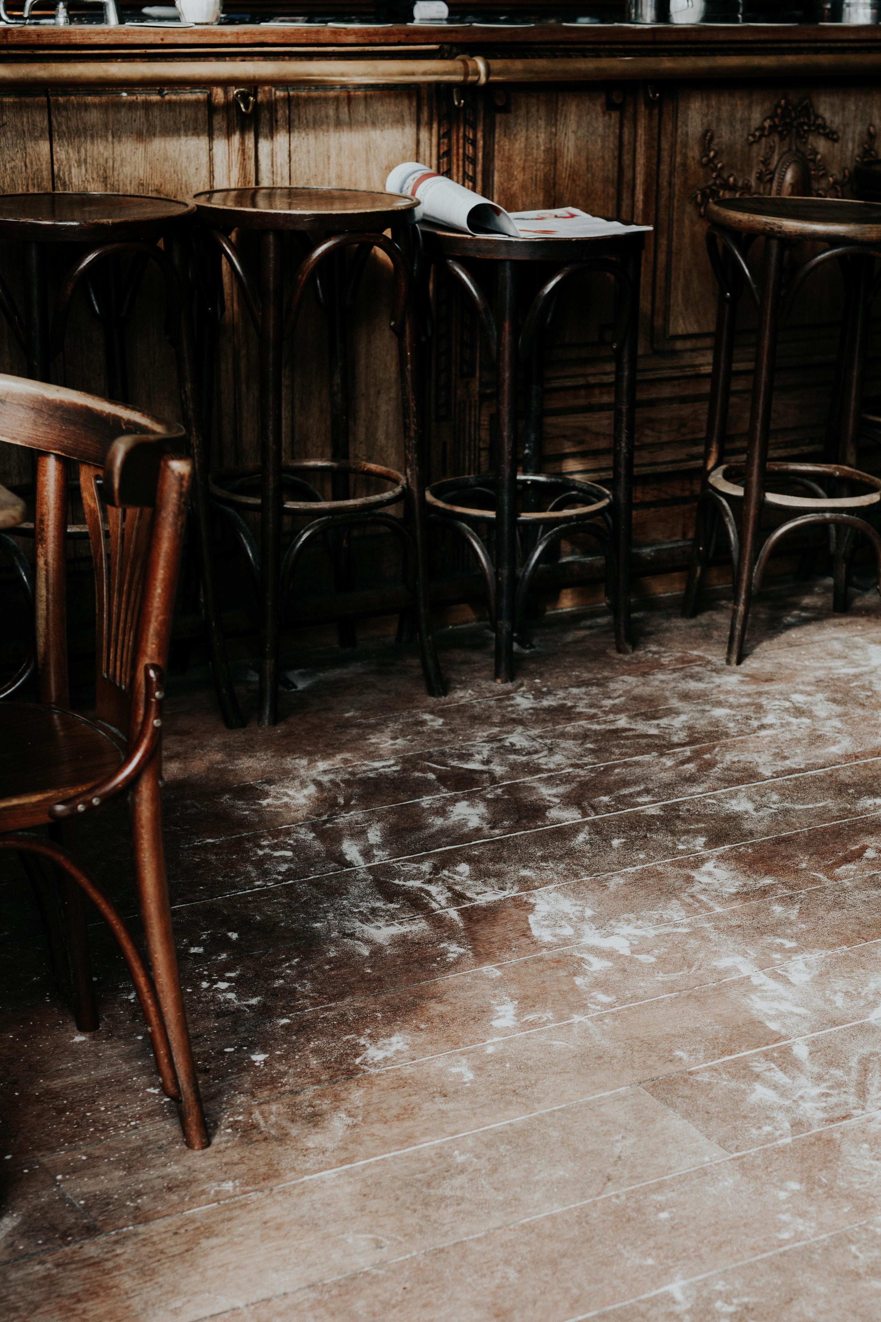 brown bar stools