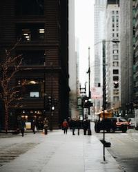 group of people walking beside buildings