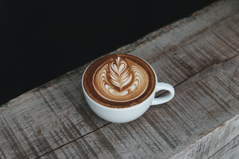 cappuccino in white ceramic teacup