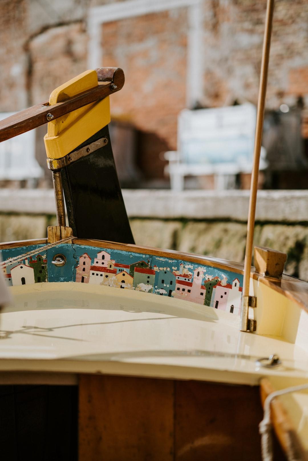 Painted Venetian boat
