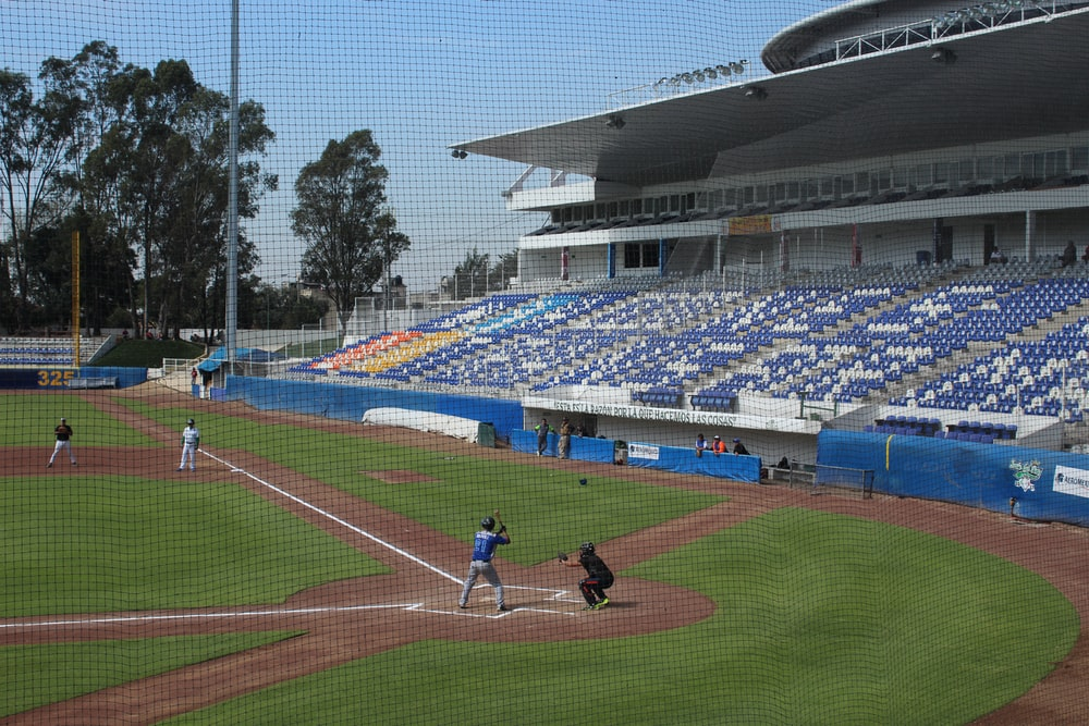 baseball game in field
