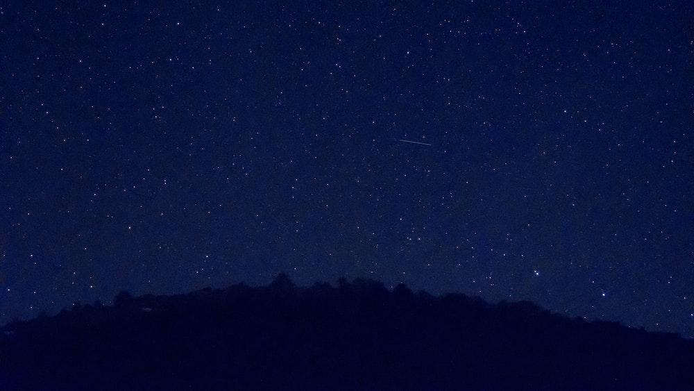 starry sky on night