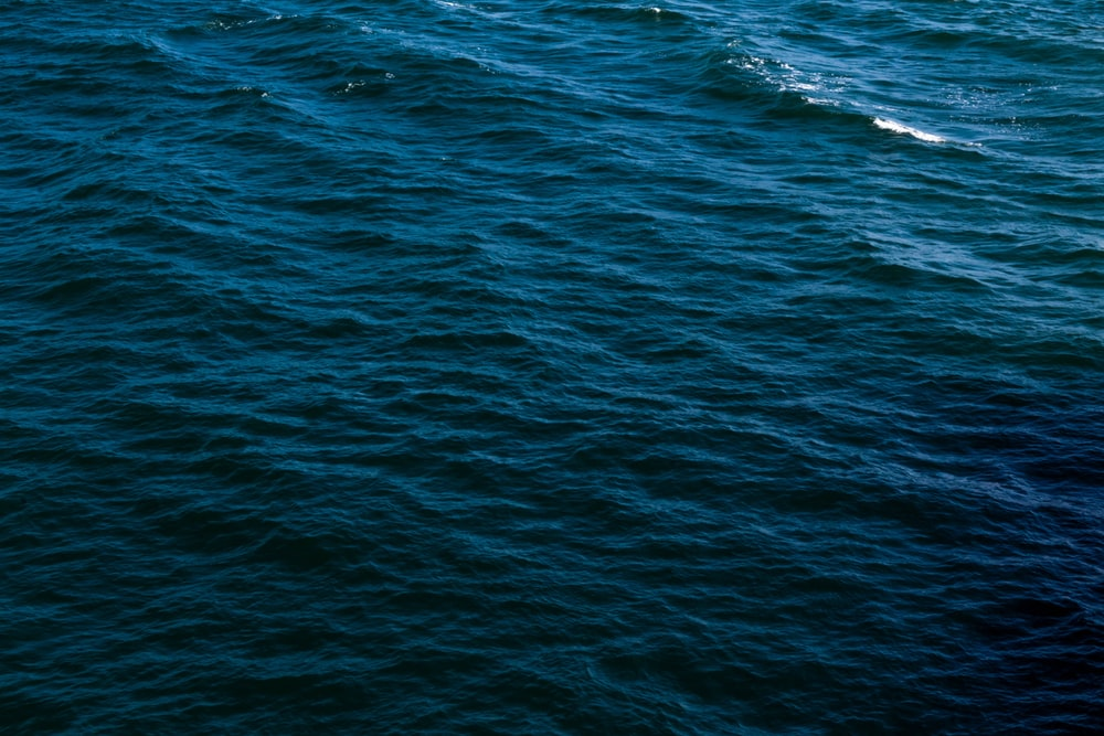 aerial view blue ocean