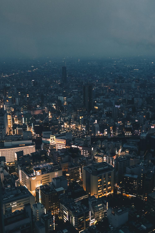 birdseye photo of buildings