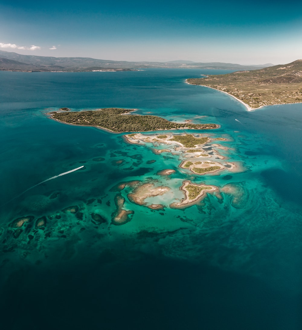 aerial photography of island near other islands