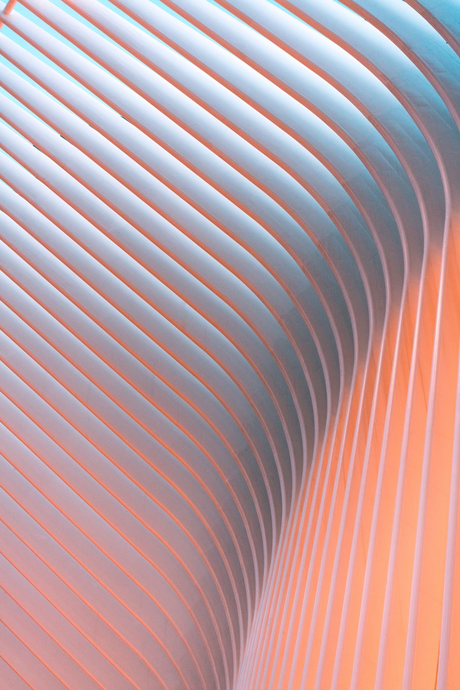 Decorative line background with a blue gradient