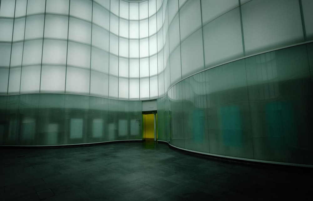 white and gray glass building