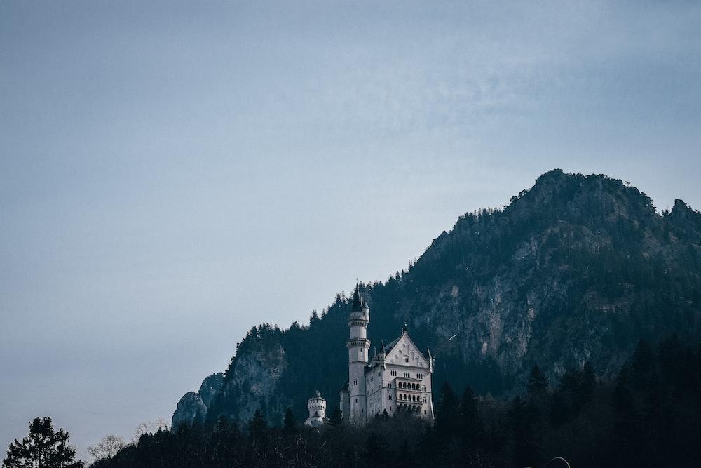 white citadel near mountain