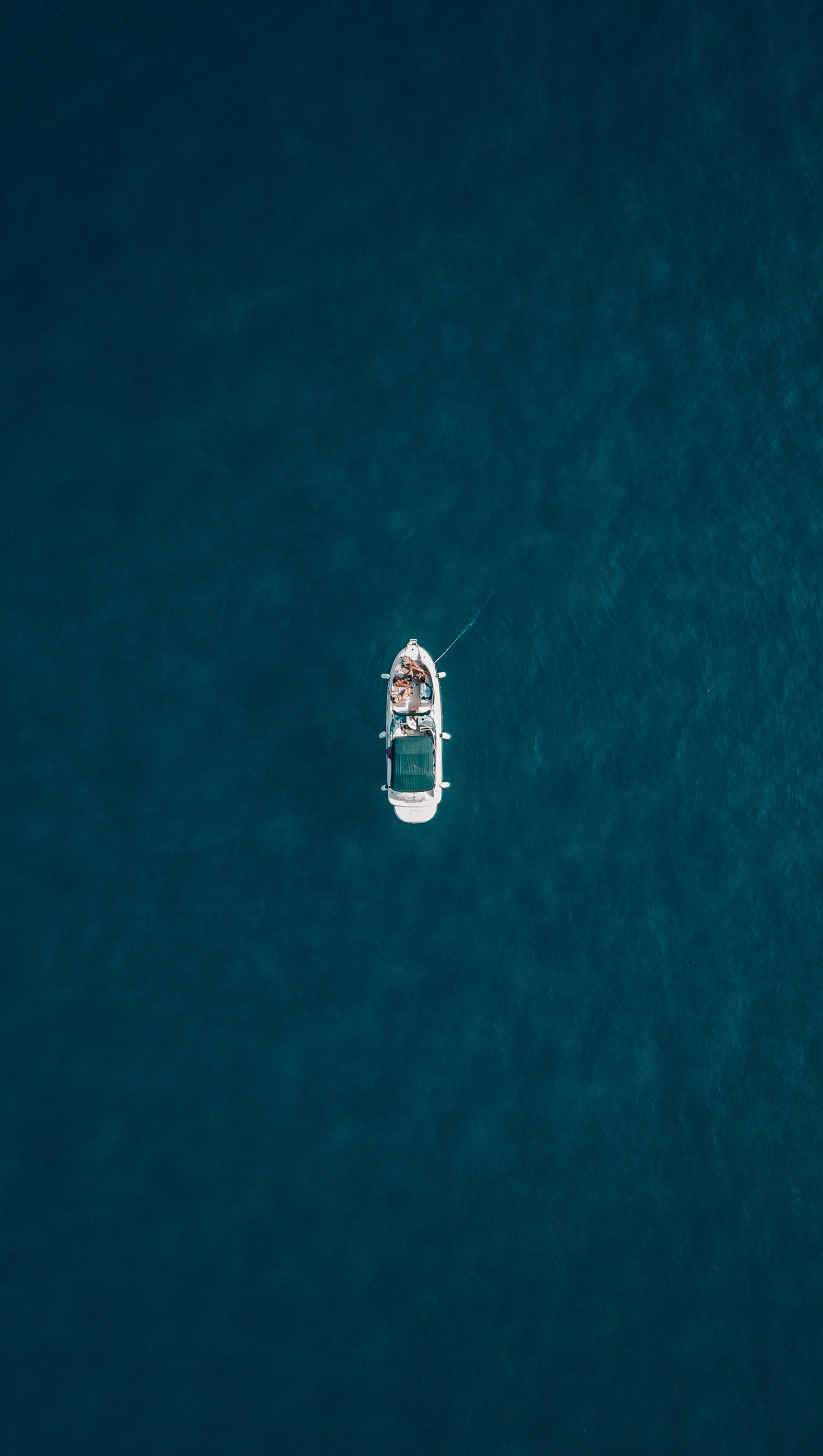 aerial photography of boat on water