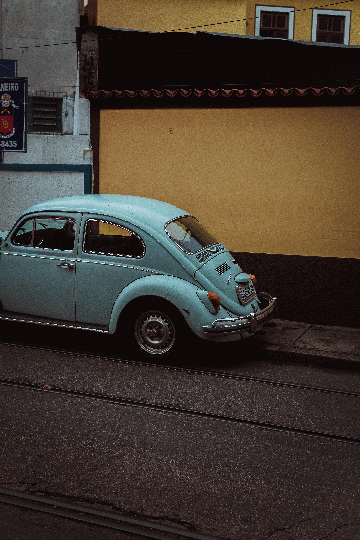 teal Volkswagen Beetle Type 1