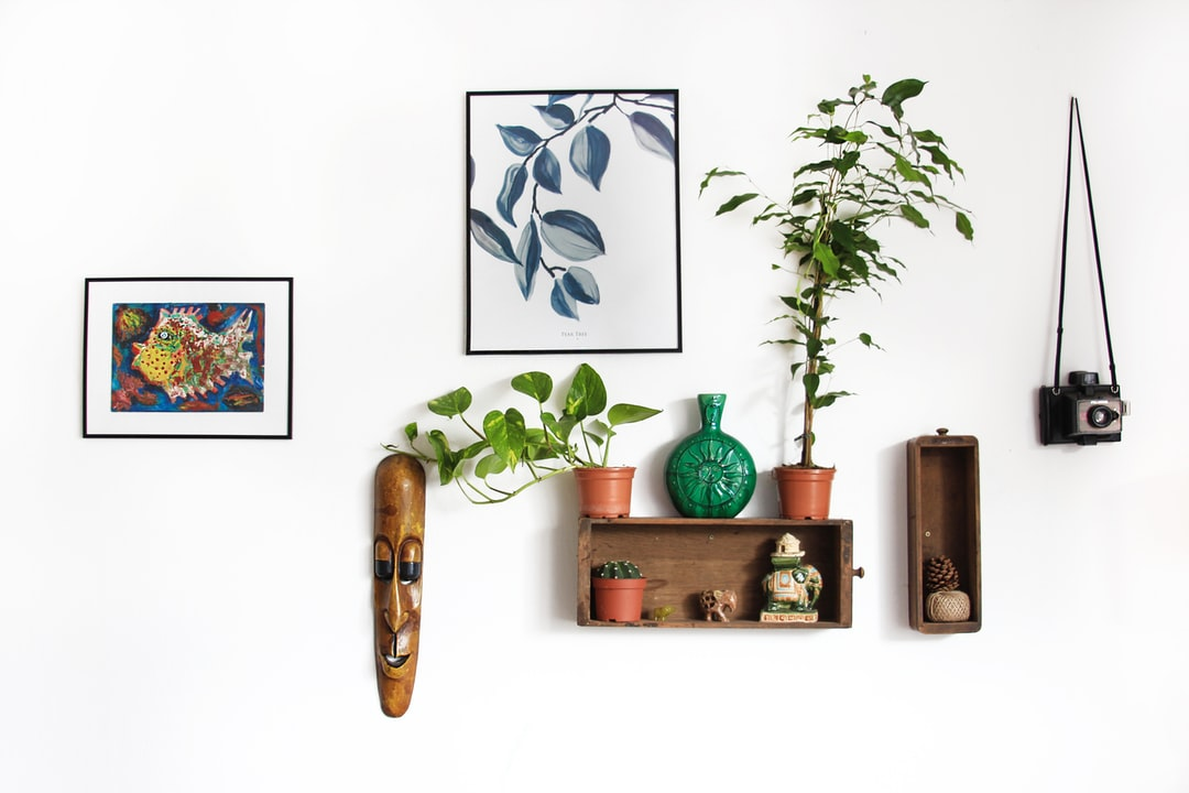 Sunday afternoon boho inspiration  I decorated our living room wall one lazy Sunday.