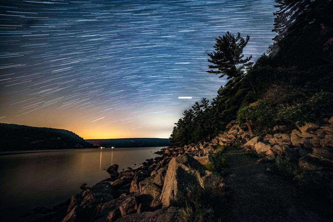 Hiking around Devil's Lake at night, stopped for an hours to photograph beautiful star trails in the darkness. If you use this photo, please consider crediting https://www.goodfreephotos.com, not required but always appreciated.