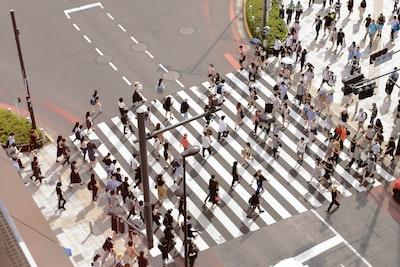 people walking on pedestrian lane during day time crowd zoom background