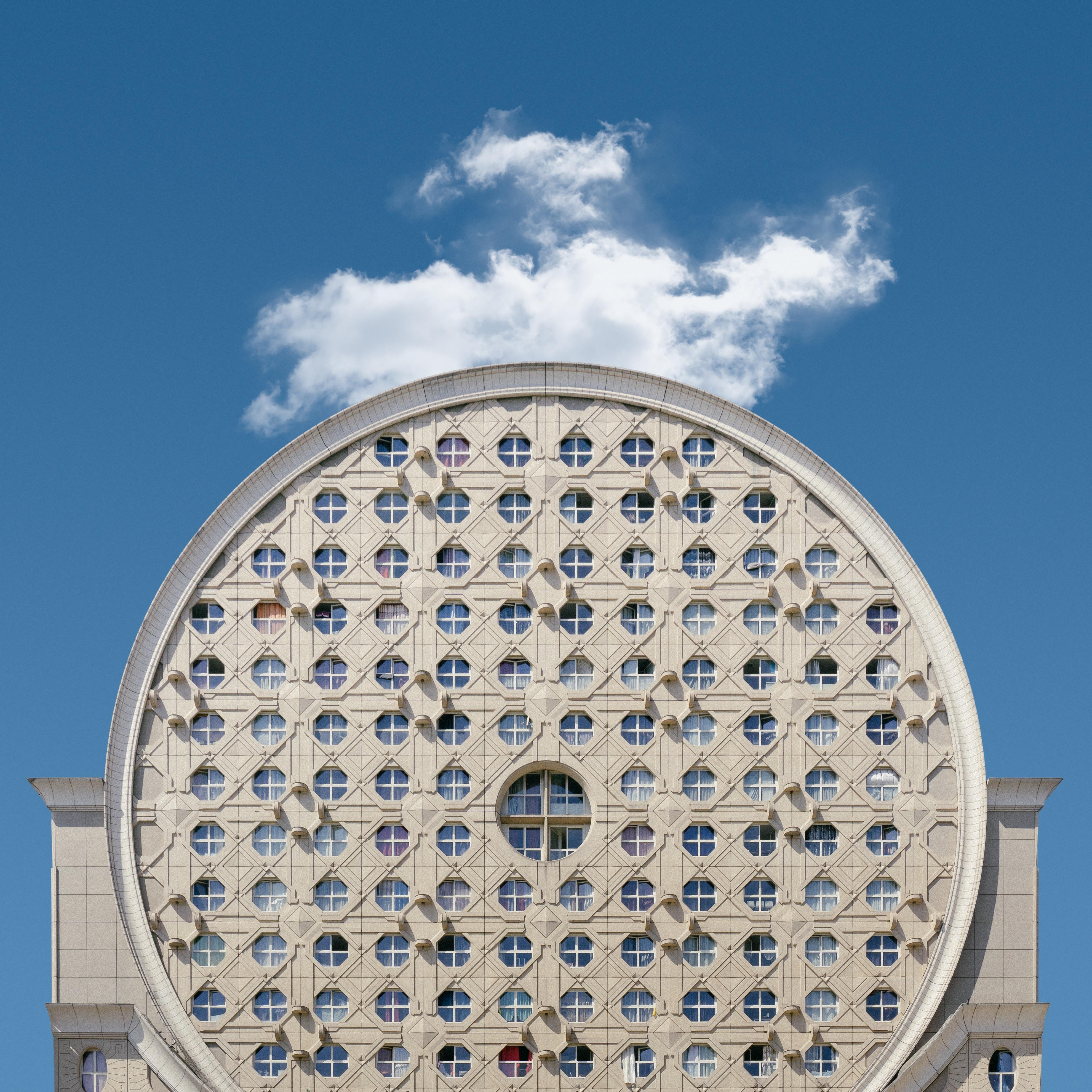 round white concrete building