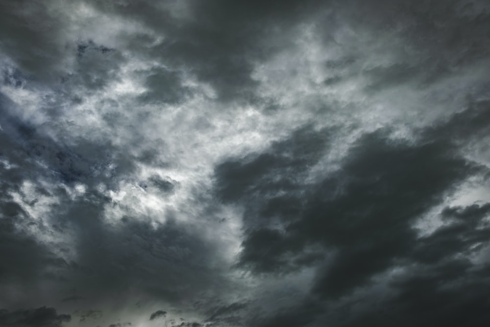 photograph of gray clouds