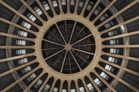 round brown structural ceiling