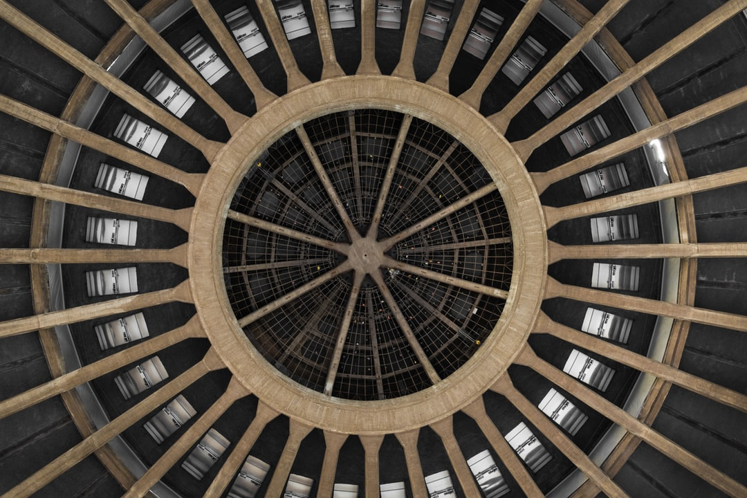 This is the dome of the Centennial Hall in Wrocław, obviously shot from below ;)
