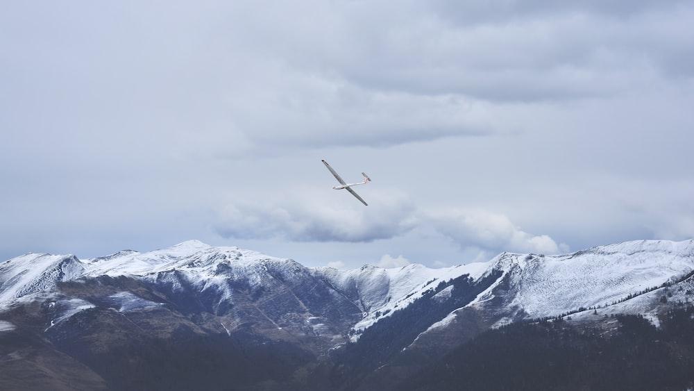 white airplane on sky