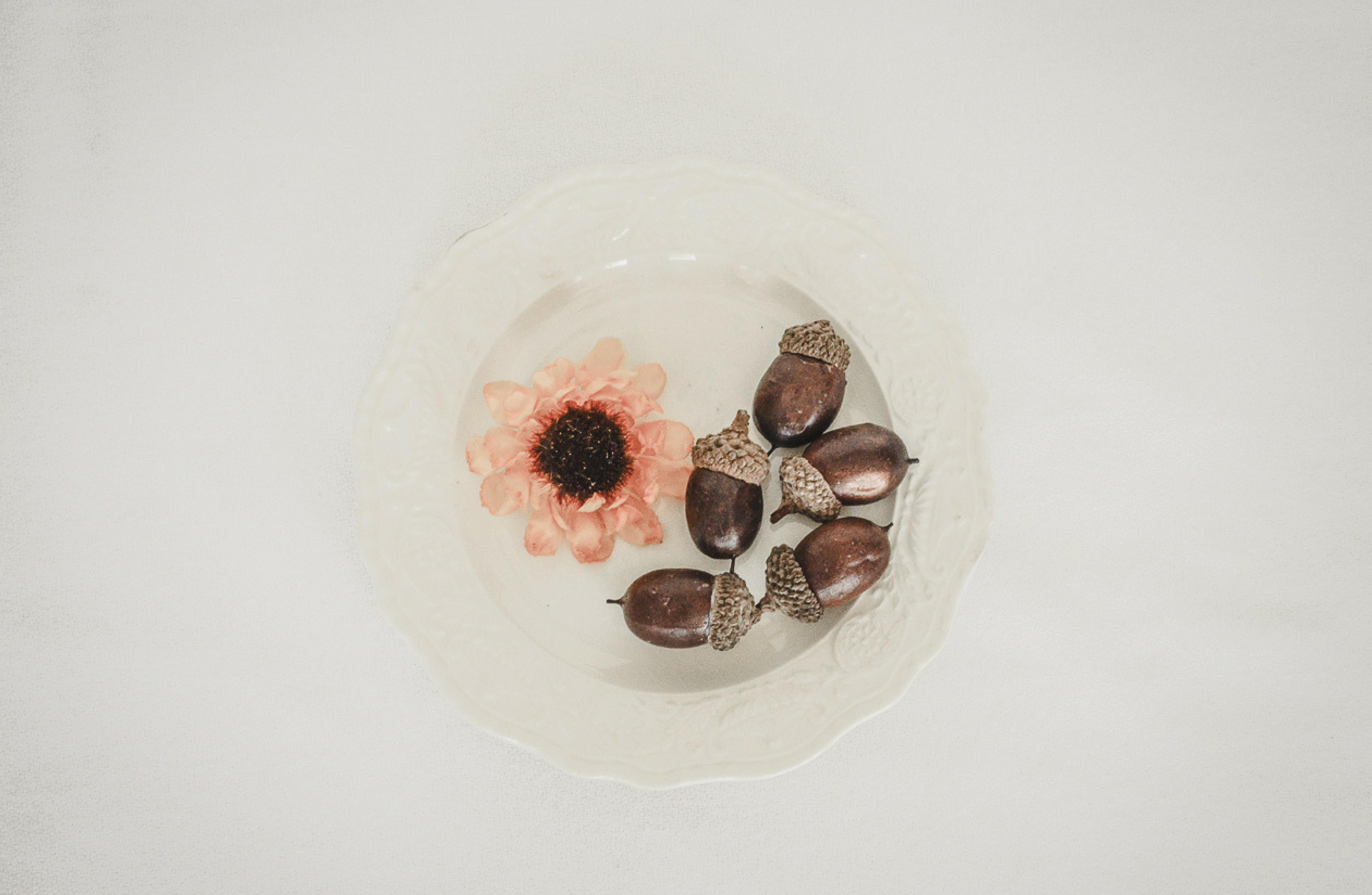 acorns in bowl