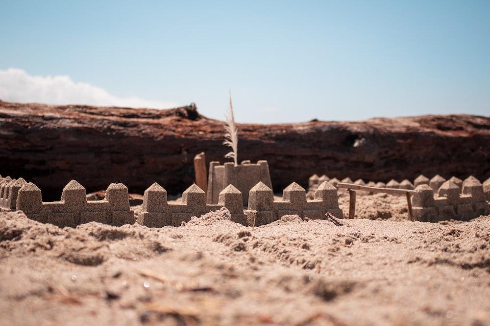 fences on sand field
