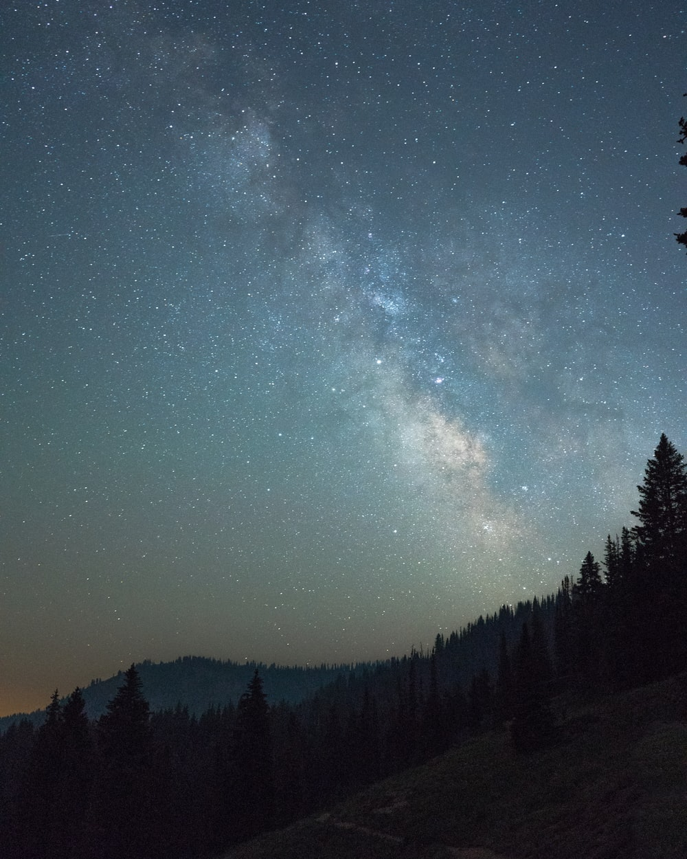low-angle photography of milky way during nighttime