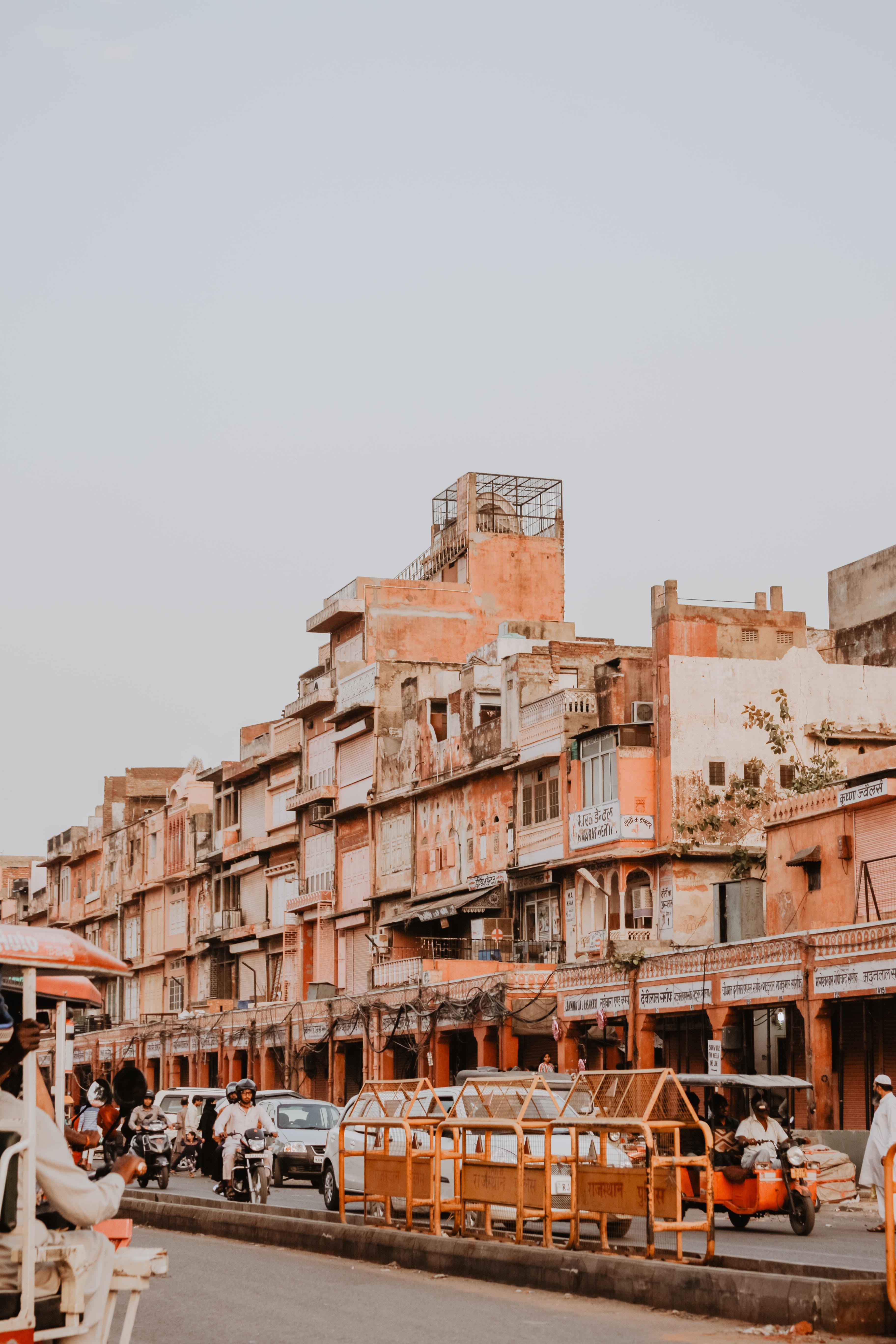 photo of orange building near road