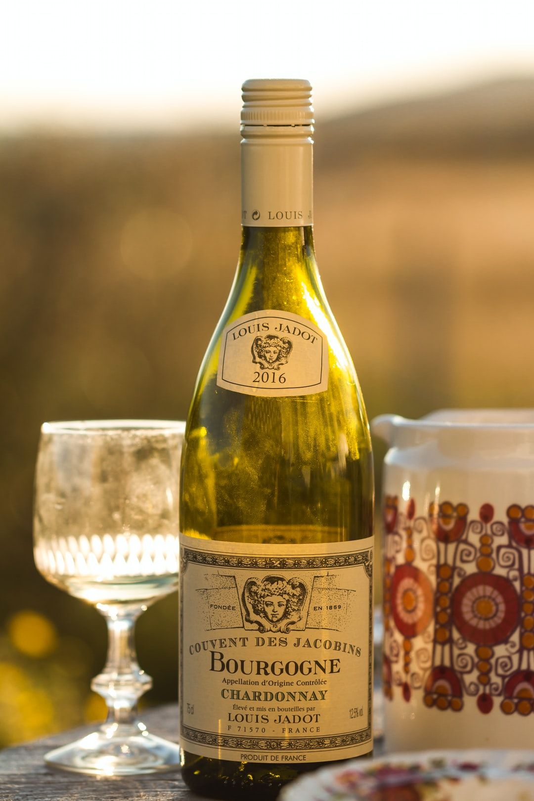 Had to shoot some images of this lovely empty bottle of white wine.