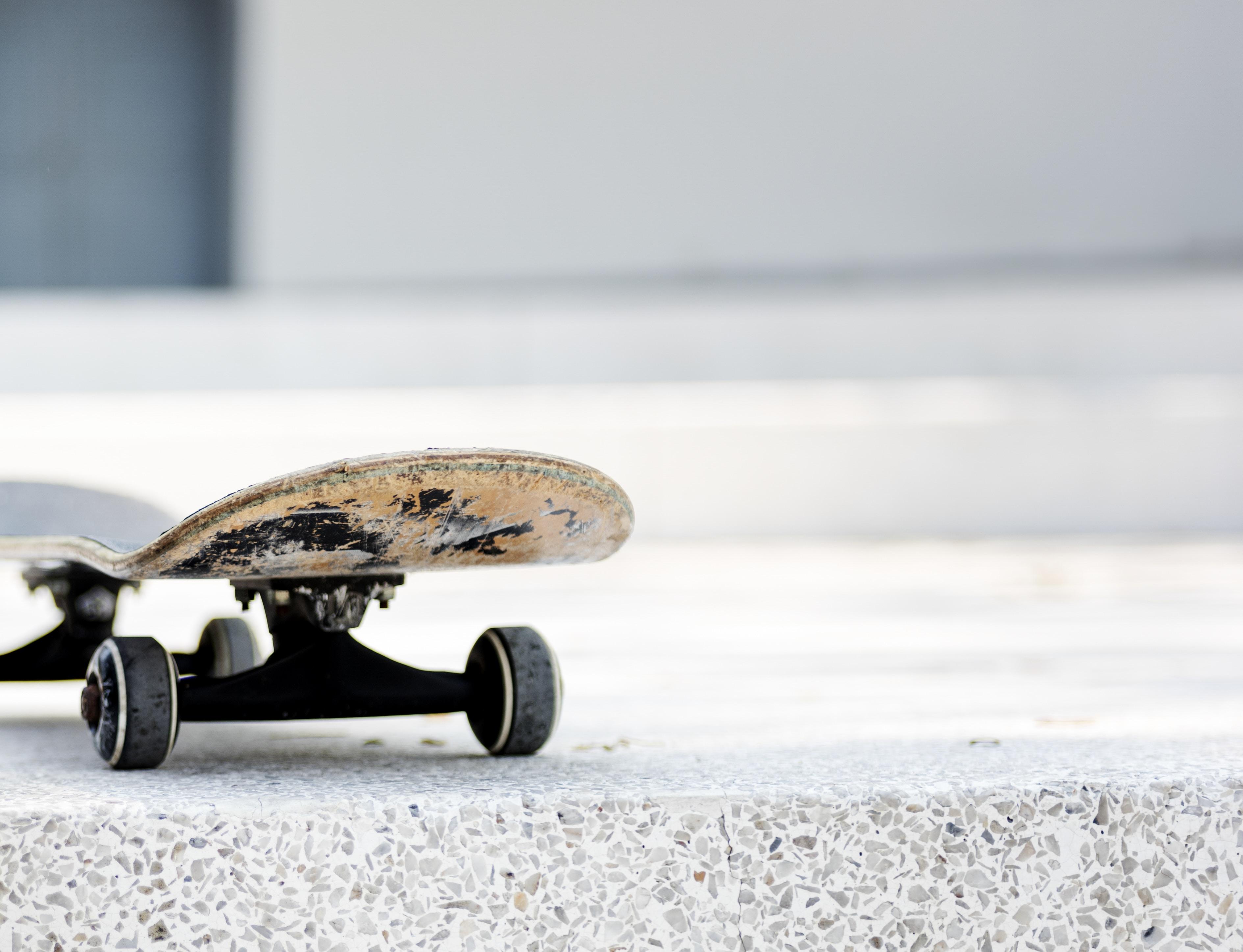 skateboard on ground